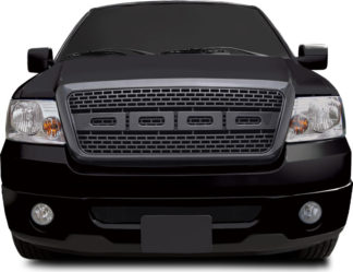 72R-FOF1504-ZR-CF ABS Carbon Fiber Look Inspired 09 F150 Raptor Style Replacement Grille