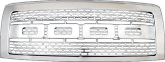 72R-FOF1509-ZR-CH ABS Chrome Raptor Inspired Style Replacement Grille