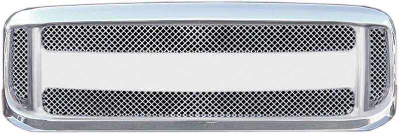 72R-FOF2599-PGB ABS Chome Horizontal Giant Bar witth Fine Mesh Style Replacement Grille