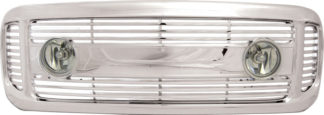 72R-FOF2599L-OBL ABS Chrome Billet With Big Middle Bar Style Replacement Grille With Light