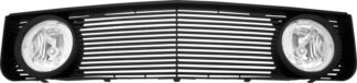 72R-FOMUS05VL-GBL-BK ABS Black Horizontal Billet Style with Fog Lamp Kit Replacement Grille - Top
