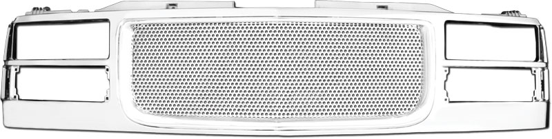 72R-GMC1094-PDN ABS Chrome Denali Circle Hole Mesh Style Replacement Grille