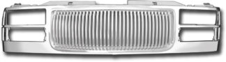72R-GMC1094-PVB ABS Chrome Vertical Bar Style Replacement Grille
