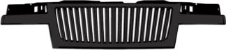 72R-GMCAN04-GVB-BK ABS Shiny Black Vertical Thin Bar Style Replacement Grille