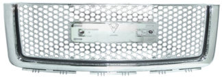 72R-GMSIE07-GDN ABS Chrome Denali Style Replacement Grille with Emblem Recess