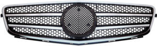 72R-MBCW20408-BC ABS Replacement Grille - Black/Chrome (Use OEM Emblem 163 888 00 86 - included)