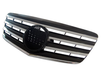 72R-MBEW21107-BC ABS Replacement Grille - Black/Chrome (Use OEM Emblem 163 888 00 86 - included)