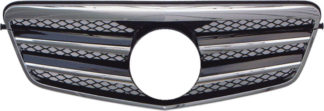 72R-MBEW212104-BC AMG Style ABS Replacement Main Grille - Black Mesh/Chrome 2-Molding (Use OEM Emblem 163 888 00 86 - included)