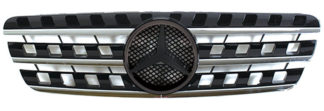 72R-MBMW16398-BC ABS Replacement Grille - Black/Chrome (Use OEM Emblem 163 888 00 86 - included)