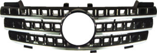 72R-MBMW16406-BC ABS Replacement Grille - Black/Chrome (Use OEM Emblem 163 888 00 86 - included)