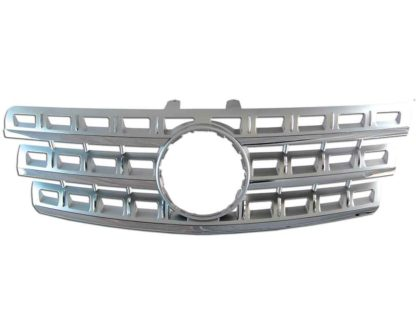 72R-MBMW16409-SC ABS Replacement Grille - Silver/Chrome (no emblem