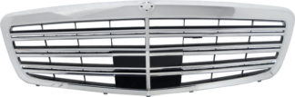 72R-MBSW22110-AMG ABS S65 AMG Style Replacement Grille Chrome-Black