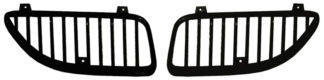 72R-POGAM99-GVB ABS Chrome Vertical Style Replacement Grille 2-PC