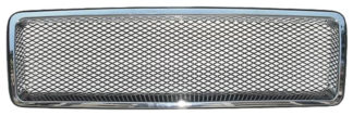 72R-VO85092AM-CM ABS Chrome Perimeter Aluminum Mesh Style Replacement Grille
