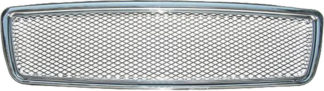 72R-VOS7098AM-CM ABS Chrome Frame Aluminum Mesh Style Replacement Grille
