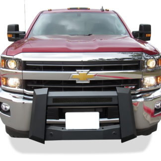 Modular Bull Bar - Black Carbon Steel - 2011-2018 GMC Sierra 3500 With/ Without Parking Sensor