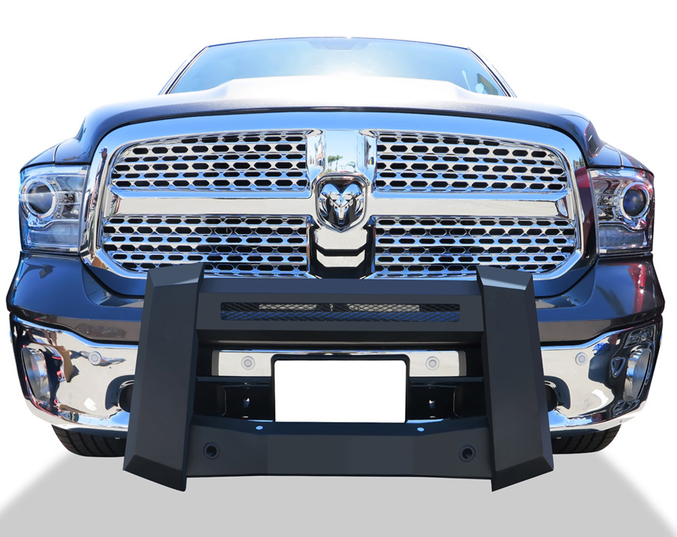 Modular Bull Bar - Black Carbon Steel - 2009-2018 Ram 1500 (Excl. Rebel) With/ Without Parking Sensor