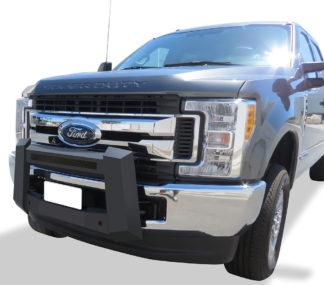 Modular Bull Bar - Black Carbon Steel - 2017-2018 Ford F-550 SD Not for Models w/Parking Sensor