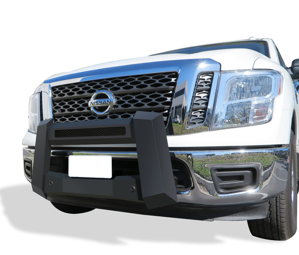 Modular Bull Bar - Black Carbon Steel - 2017-2018 Nissan Titan Not for Models w/Parking Sensor