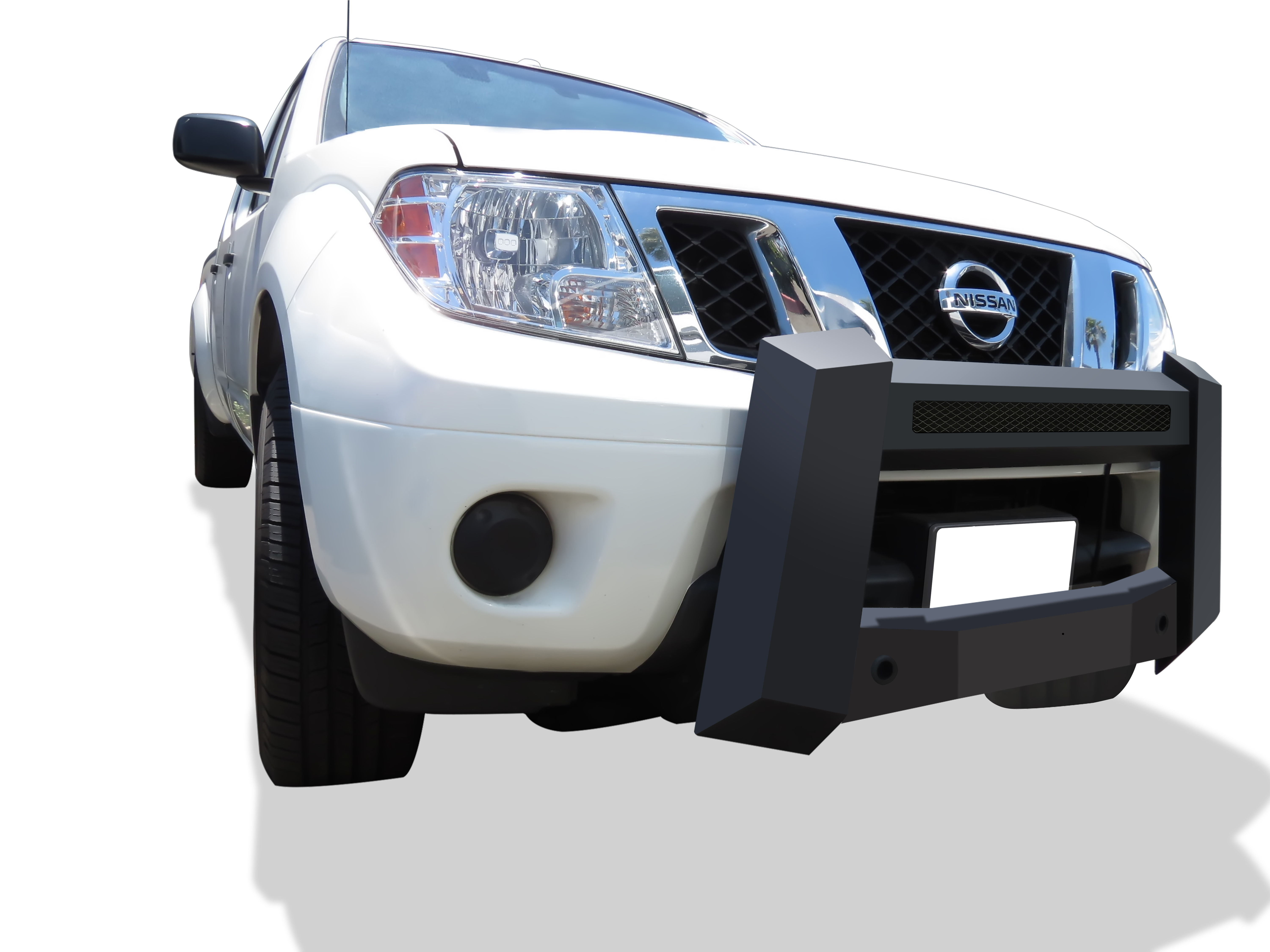 Modular Bull Bar - Black Carbon Steel - 2005-2018 Nissan Frontier Not for Models w/Parking Sensor