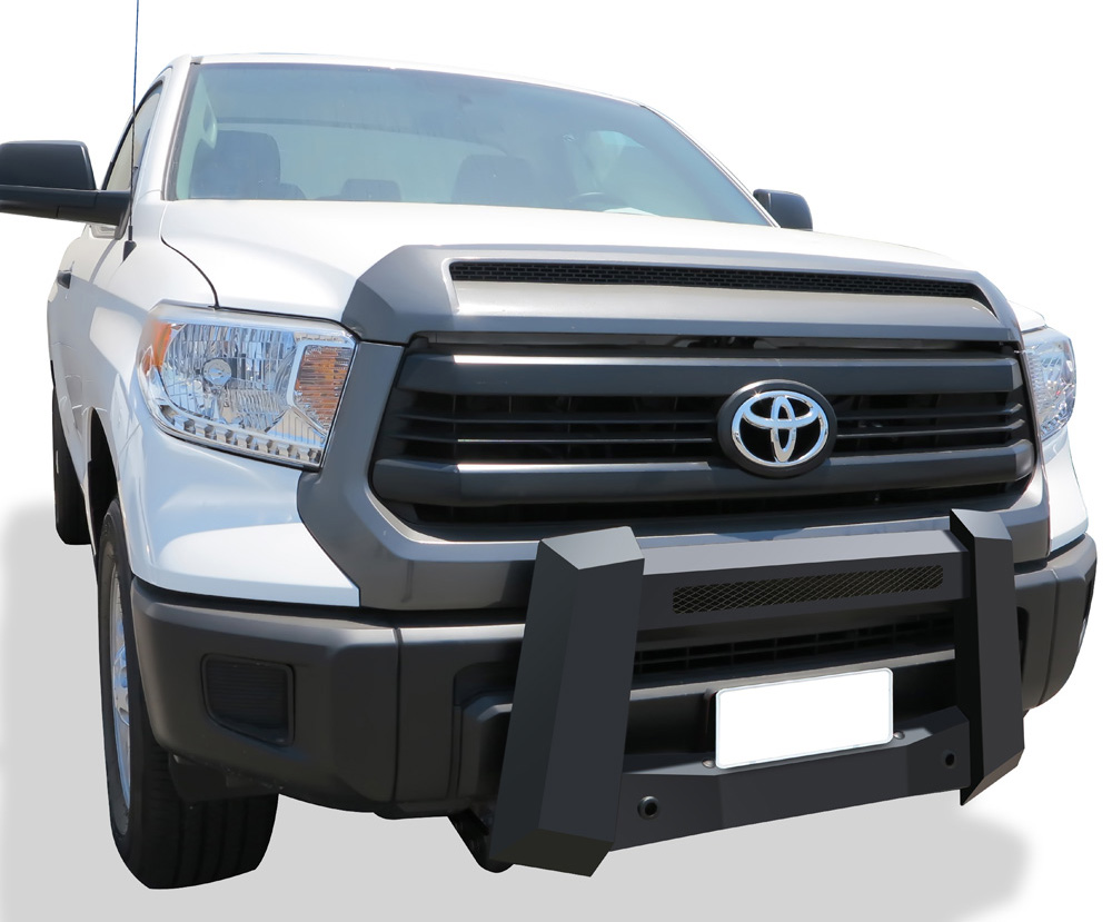 Modular Bull Bar - Black Carbon Steel - 2007-2018 Toyota Tundra Not for Models w/Parking Sensor