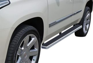 "iStep 4 Inch Running Boards 2000-2018 Chevy Tahoe **Excl. 04-07 ""Z71"" and any model with lower body cladding** 2000-2018 GMC Yukon 1500 2001-2017 Cadillac Escalade SUV (Excl. ESV/EXT)"