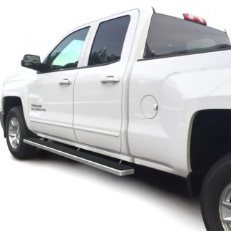 iStep 4 Inch Running Boards 2007-2018 Chevy/GMC Silverado/Sierra 1500 Extended Cab/Double Cab 2007-2018 2500/3500 Extended Cab/Double Cab (Incl. Diesel models with DEF tanks)