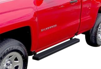 iStep 4 Inch Running Boards 2007-2018 Chevy/GMC Silverado/Sierra 1500 Regular Cab 2007-2018 2500/3500 Regular Cab (Incl. Diesel models with DEF tanks)