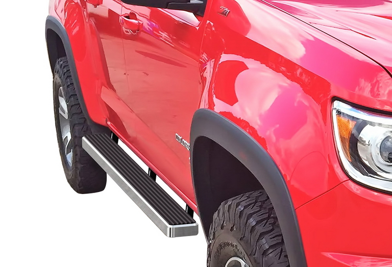 """2006-2010 Colorado Canyon Extended Cab 5/"""" Chrome Pads Running Side Step Boards"""