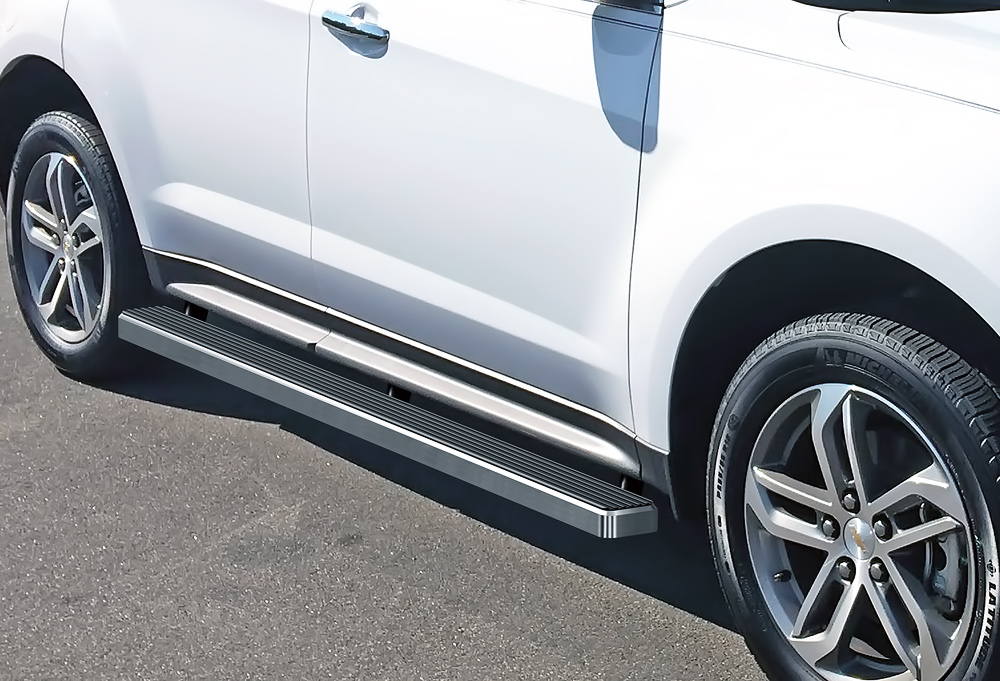 running boards gmc terrain istep inch denali equinox chevy excludes models hairline finish