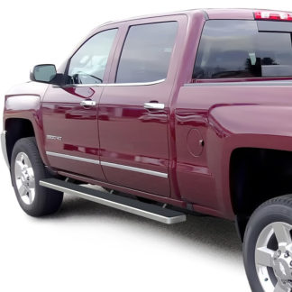 iStep 4 Inch Running Boards 2007-2018 Chevrolet Silverado / GMC Sierra 1500 Crew Cab 2007-2018 Chevrolet Silverado / GMC Sierra 2500/3500 Crew Cab (Incl. Diesel Models With DEF Tanks)