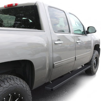 "iStep 4 Inch Running Boards 2001-2013 Chevy Silverado / GMC Sierra 1500/1500HD Crew Cab 2001-2014 Chevy Silverado / GMC Sierra 2500/2500HD/3500 Crew Cab (Excl. C/K ""Classic"" & S.S. Models)"