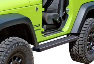 iStep 4 Inch Running Boards 2007-2018 Jeep Wrangler JK 2Dr (Factory sidesteps or rock rails have to be removed)