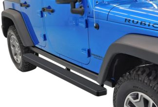 iStep 4 Inch Running Boards 2007-2018 Jeep Wrangler JK 4Dr (Factory sidesteps or rock rails have to be removed)