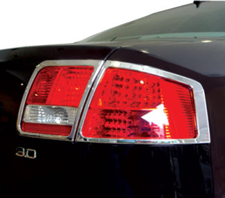 ABS Chrome Tail Light Bezel 4-Pc 2004 - 2008 Audi A8