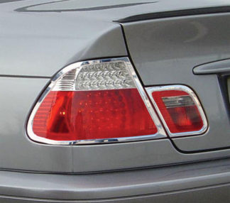 ABS Chrome Tail Light Bezel 4-Pc 2004 - 2006 BMW 3-Series