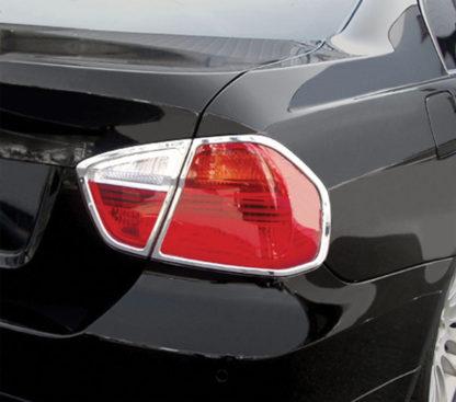 ABS Chrome Tail Light Bezel 4-Pc 2006 - 2008 BMW 3-Series