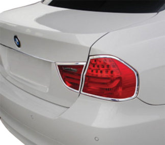 ABS Chrome Tail Light Bezel 4-Pc 2009 - 2011 BMW 3-Series