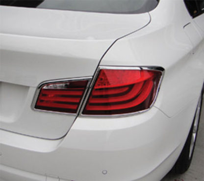 ABS Chrome Tail Light Bezel 4-Pc 2011 - 2013 BMW 5-Series
