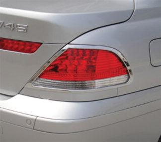 ABS Chrome Tail Light Bezel 2002 - 2005 BMW 7-Series