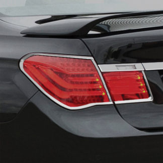 ABS Chrome Tail Light Bezel 4-Pc 2009 - 2013 BMW 7-Series