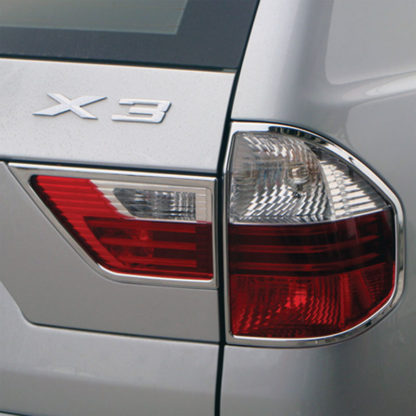 ABS Chrome Tail Light Bezel 4-Pc 2004 - 2010 BMW X3