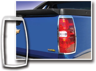 ABS Chrome Tail Light Bezel 2007 - 2013 Chevy Avalanche