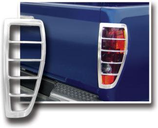 ABS Chrome Tail Light Bezel 2004 - 2012 Chevy Colorado