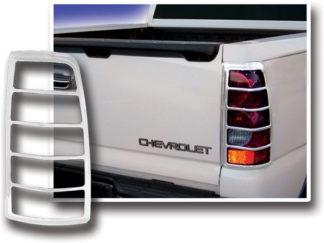 ABS Chrome Tail Light Bezel 2003 - 2006 Chevy Silverado