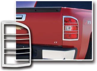 ABS Chrome Tail Light Bezel 2007 - 2013 Chevy Silverado