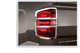 ABS Chrome Tail Light Bezel 2014 - 2015 Chevy Silverado