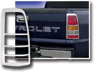 ABS Chrome Tail Light Bezel 1999 - 2002 Chevy Silverado