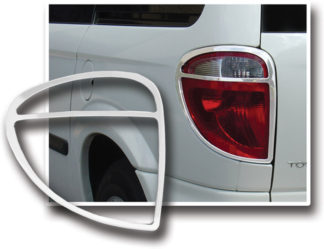 ABS Chrome Tail Light Bezel 2001 - 2007 Chrysler Town & Country