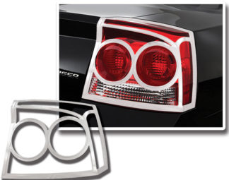 ABS Chrome Tail Light Bezel 2009 - 2010 Dodge Charger